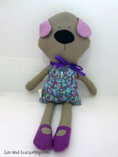 Lucy is an 18-inch handmade doll that would be the perfect gift for dog lovers of all ages. 100% handmade and ready to become your best friend.