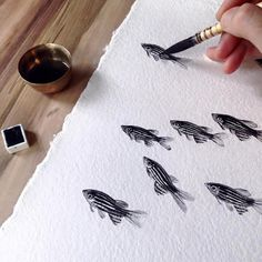 Elegant Fish Paintings Express Artist's Vision of the World