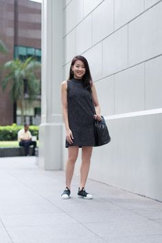 SHENTONISTA: Go Forth. Rayne, Student. Dress from Anti Clockwise, Shoes from Adidas, Bag from Taobao, Watch from Casio. #shentonista #theuniform #singapore #fashion #streetystyle #style #ootd #sgootd #ootdsg #wiwt #popular #people #male #female #womenswear #menswear #sgstyle #cbd #AntiClockwise #Adidas #Taobao #Casio