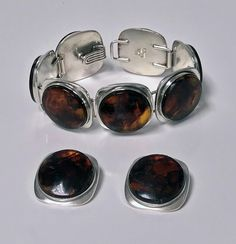 Mid Century Bent Knudsen Danish Amber Bracelet and Earrings, Amber Bracelet, Amber Jewelry, Bangle Bracelets, Bangles, Antique Bracelets, Antique Jewelry, Amber Stone, Jewelry Organization, Danish
