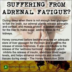 Going to have to try this. Suffering from Adrenal Fatigue - Honey / Health Remedies Natural Health & Healing