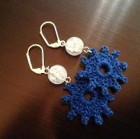 Crocheting : Earrings Free pattern! ༺✿ƬⱤღ✿༻