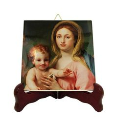 Items similar to Religious gift idea - Madonna and Child - religious collectible tile - Virgin and Child - catholic gift ideas - Virgin Mary gifts - plaque on Etsy Catholic Gifts, Catholic Prayers, Catholic Art, Religious Gifts, Religious Icons, Tile Murals, Tile Art, Mary And Jesus, Madonna And Child
