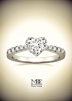 Freccia Heart Shaped Diamond Engagement Ring