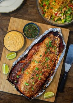 Japansk laxsida med chilimajonnäs - ZEINAS KITCHEN Salmon Recipes, Fish Recipes, Asian Recipes, Healthy Recipes, Zeina, Fish Dinner, Foods With Gluten, Fish And Seafood, Food Inspiration