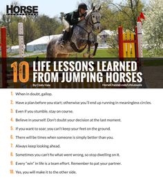 A rider reflects on how jumping has helped her work through the challenges of day-to-day life.