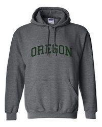 Oregon Ducks Hoodie in Charcoal