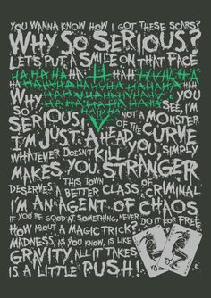 """""""Introduce a little anarchy, upset the established order, and everything becomes chaos, I'm an agent of chaos, and you know the thing about chaos? It's fair.""""  This city deserves a better class of t-shirts. And we're gonna give it to them. This design features the artwork in two colours screen printed on a 100% cotton steel grey Redwolf tee. Introduce a little Anarchy is now available on t-shirts and accessories on Redwolf.in"""
