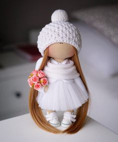 "343 Me gusta, 11 comentarios - Авторские Куклы (@alina.dmitriewa) en Instagram: ""С добрым утром!!! ♀️ Ангелок под ёлочку! ❤️ #ad_homedecor #handmade #doll#artdoll…"""