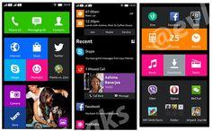Nokia Normandy user interface
