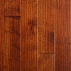 """Show details for Nuvelle Boardwalk Birch Cherry Hill- 5"""", Dark brown floor, red floor, handscraped floor, engineered floor, birch hardwood, antiqued floor, vintage floor, floor idea, floor trend, wide plank floor"""