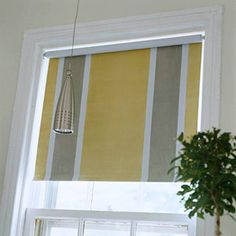 Transform a standard-issue window shade with paint.