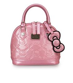 Hello Kitty Pink Glitter Mini Embossed Bag