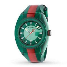 de9f5c5e11c Gucci Wonderland Unisex Sapphire Blue And Red Snake Dial Nylon Strap Watch  YA126493