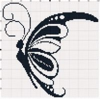 "Gallery.ru / Olgakam - Альбом ""Насекомые (схемы)"" Xmas Cross Stitch, Butterfly Cross Stitch, Cross Stitch Bookmarks, Cross Stitch Heart, Cross Stitch Animals, Cross Stitch Kits, Counted Cross Stitch Patterns, Cross Stitch Designs, Cross Stitching"