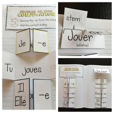 French Regular -er verb foldables! My kiddos loved this notebook spread and reference it often.