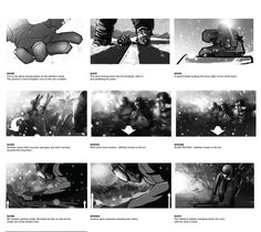 Storyboard BBC Winter Olympics – Nature by Platige Image, via Behance