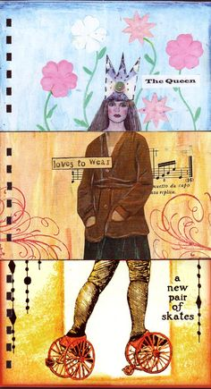 The Exquisite Corpse: An Exquisite Corpse Project.  altered books and journals #journal