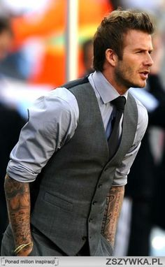 David Beckham style #mensfashion #mensjewellery  www.urban-male.com