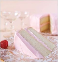Pink Champagne Cake. My new favorite cake flavor!