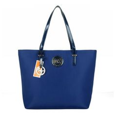 #MichaelKorsOnline #FallingInLoveWith You Can Go Everywhere With Michael Kors Jet Set Logo Large Blue Totes, And You Will Become More Outstanding!
