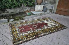 "Traditional Design Handwoven Vintage Turkish Rug 4'5"" x 7'7"" Handmade Rug Boho Rug Turkey Rug Floor Rug Decorative Area Rug Floor Rug"