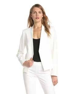 Theory Women's Lanai Bistretch Open Jacket at Amazon Women's Clothing store: Blazers And Sports Jackets