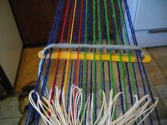 """Reggie the Potter. and Tape Loom Weaver: Adding an Extra Heddle to Create 3 """"Heddles"""" on a Tape or Band Loom Inkle Weaving, Loom, Tape, Create, Fabric Frame, Band, Ice"""