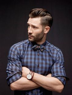gravata borboleta com camisa xadres