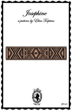 Peyote Pattern Bracelet Pattern Peyote Stitch by TheBeadyLittleEye