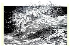 linogravure - Google Search Different Art Styles, Sea And Ocean, Ocean Art, Linocut Prints, Drawing Techniques, Ink Art, Line Drawing, Light In The Dark, Printmaking