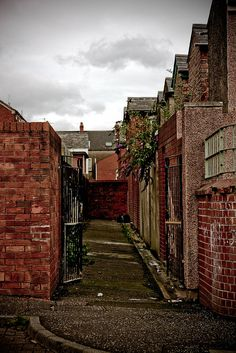 The streets and alley-ways of Belfast, Ireland. . .