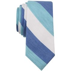 Bar Iii Men's Addison Stripe Slim Tie, ($25) ❤ liked on Polyvore featuring men's fashion, men's accessories, men's neckwear, ties, mint, mint green mens tie, mens slim ties, mens striped ties and mens ties