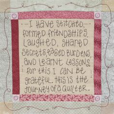 Journey of a Quilter - Block 5, copyright Leanne Beasley of Leannes' House