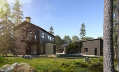 The Markki Show house combines tradition and urban details - Honka
