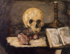 Still Life with Skull and Candlestick Paul Cézanne, 1866