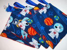 Mini Minky binky Blanket. Sensory. Play. Travel. by Maxinessewnsew #outerspace #rocketships #boysminkyblanket