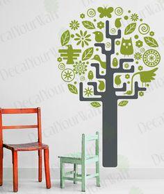 Nursery Baby Kids Room Tree Vinyl Wall Decal Sticker | eBay $26.95