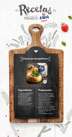 Sorprende a tu #familia con una deliciosa sopa de #champiñones preparada con #YoghurtLALA natural sin azúcar.