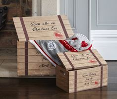 Make Christmas Eve extra special with these beautiful wooden Christmas Eve chests, available in two sizes. Boxes are supplied empty, waiting to be filled with all sorts of fantastic Christmas goodies. Perfect for adults and kids. Available to buy from September 2016. Money raised from the sale of this item will help support hospice care. Christmas Goodies, Christmas Eve, Xmas, Hospice, Tis The Season, Wooden Boxes, Empty, Waiting, September