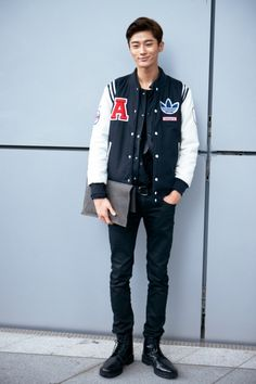 "koreanmodel: "" Street style: Byun Woo Seok at Seoul Fashion Week Spring 2015 """