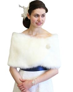 Ivory Faux Fur Wrap is ideal for brides, bridesmaids, weddings, bridal and formal events in colder weather.  Satin lined faux fur wrap stole shawl.  Assorted colors available such as Black, Ivory, Pure White, Sable and Chinchilla Grey Wrap.Price: $39.99 on http://www.tionbridal.com/ivory-faux-fur-wedding-wrap/