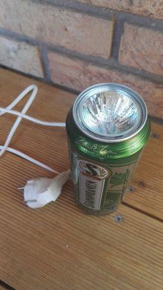 Beer can lamp diy