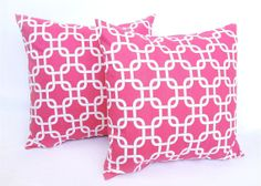 Hot Pink Throw Pillow Covers. 20 X 20 Inch. Chain Link Accent Pillows. Throw Pillows. Cushion Covers. on Etsy, $38.27 CAD