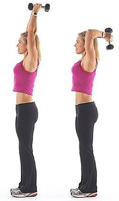 At-home workout with dumbbells to tone and tighten your arms! 6 of the best exercises to sculpt lean muscle in your biceps, triceps, and shoulders. Good Arm Workouts, Arm Toning Exercises, Easy Workouts, Dumbbell Exercises, Fitness Exercises, Weight Training Programs, Biceps And Triceps, Loose Skin, Arm Workouts