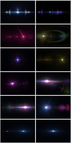 キラキラ感を演出、光フレア無料テクスチャ素材50枚セット「50 Lens Flare Pack」