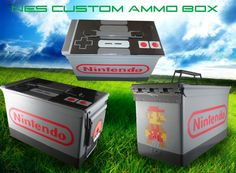 Nintendo ammo box!!! on etsy $65  Would make a cool themed geocache, but expensive
