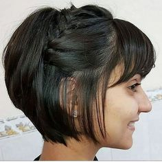Today we have the most stylish 86 Cute Short Pixie Haircuts. We claim that you have never seen such elegant and eye-catching short hairstyles before. Pixie haircut, of course, offers a lot of options for the hair of the ladies'… Continue Reading → Pixie Braids, Braids For Short Hair, Long Hair, Pixie Bob Haircut, Short Pixie Haircuts, Haircut Short, Care Haircut, Cool Braid Hairstyles, Braided Hairstyles