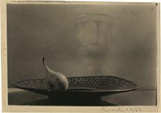JOSEF SUDEK Pear on a plate, 1951