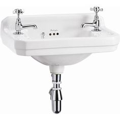 Burlington Edwardian Wall Mounted Cloakroom Basin - B8 30cm depth